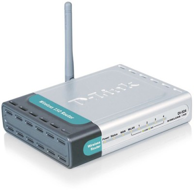 D-Link DI-524 High Speed 2.4GHz (802.11g) Wireless G Router