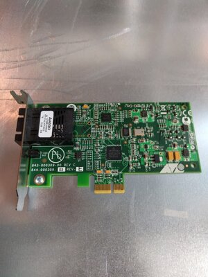 Allied Telesis AT-2711FX/SC, PCI-E x1 fiber network card, low profile
