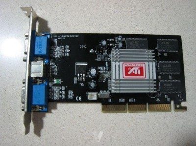 ATI-RADEON RV100 DDR, VE 64MB TV, 2x VGA