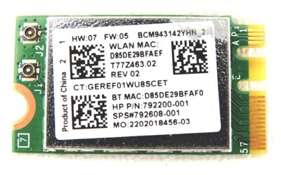 HP 792200-001, BCM943142YHN_2, M.2 WiFi BT