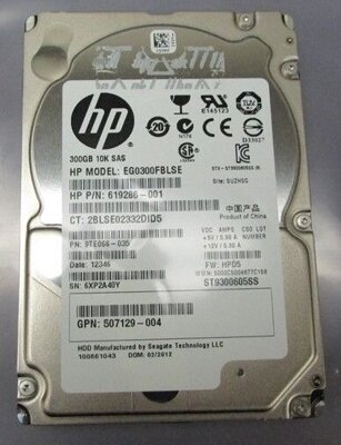 "HP EG0300FBLSE, 300GB, 2.5"" SAS HDD, 10K"