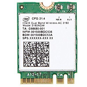 Intel Dual Band Wireless-AC 3160, 3160NGW