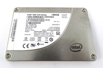 Intel SSD 520 Series, 180GB 2.5in SATA 6Gb/s 25nm MLC