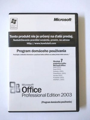 Microsoft Office Professional 2003 Sk Home Use
